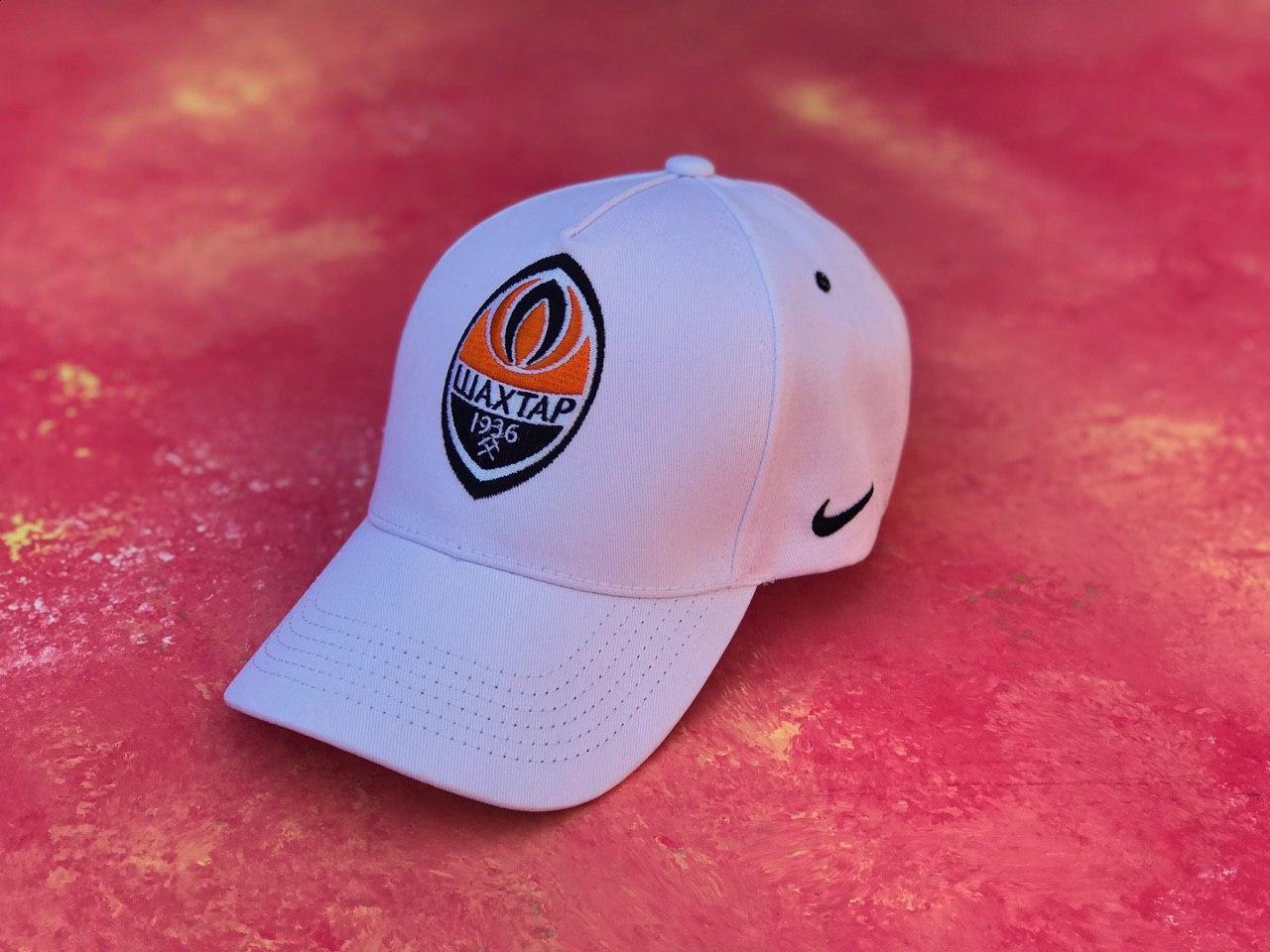Бейсболка с логотипом ФК Шахтер Донецк кепка спортивная белая