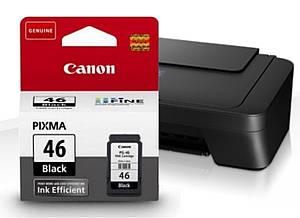 Чёрный картридж Canon Pixma E404, оригинальный, струйный, 15 мл. (OEM-CANON-E404-BK)