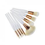 Набор кистей для макияжа 8 шт белый, фото 3