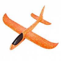 Самолёт пенопластовый метательный трюкач 48см оранжевый