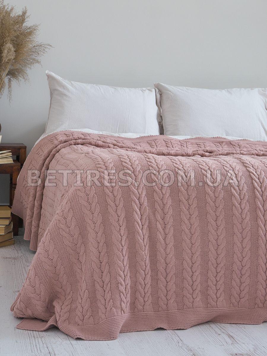 Покривало 220x240 BETIRES BREMEN DARK POWDER попелясто рожеве