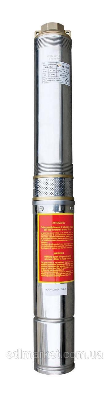 Насос свердловинний OPTIMA 4SD8/36 5.5 кВт 209м 3-х фазний (11690)