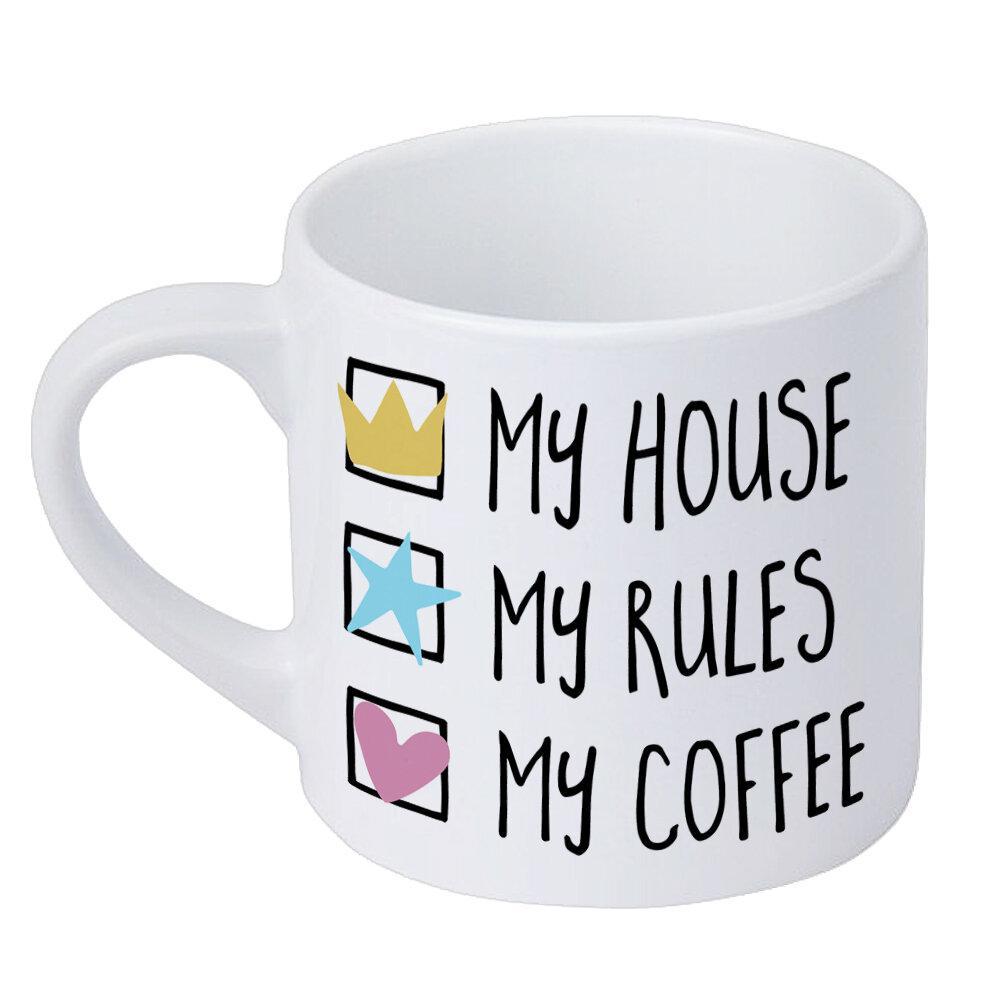 Кружка маленькая My house My rules My coffee 170 мл (KRD_20M040)