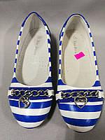 Туфли-балетки лодочки для девочки  размеры 35, 36