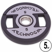 Диски поліуретанові з хватом TECHNOGYM TG-1837-5 5 кг