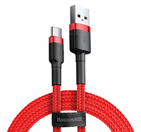 Кабель Baseus Cafule Cable USB for Type-C 3A 1M Red