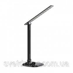 Светодиодная Настольная Лампа с Регулятором Яркости FERON DE1725 9W 6400К LED (ЛЕД) Чёрная (для маникюра)