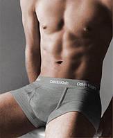 Трусы боксеры мужские Calvin Klein 365 CK мужское белье (реплика) серые с cерой резинкой