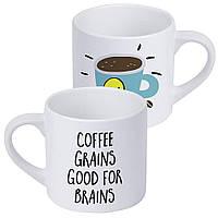 Кружка для кофе Coffee grains good for brains 170 мл (KRD_20M032)