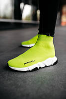 Женские кроссовки Balenciaga Speed Trainer  «Yellow BB», Реплика, фото 1