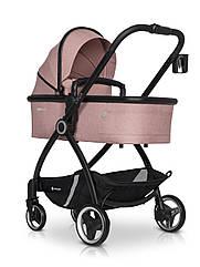 Коляска 2в1 Euro-Cart Crox Rose розовая