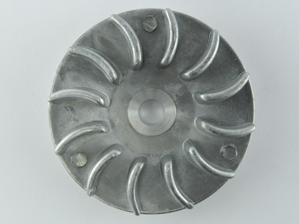 Крыльчатка (щека) вариатора Honda Dio-18/Lead-50, старый, алюминиевая