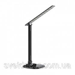 Светодиодная Настольная Лампа с Регулятором Яркости FERON DE1725 9W 4000К LED (ЛЕД) Чёрная (для школьника)