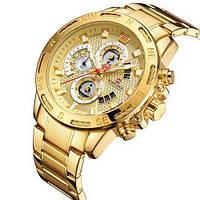 Часы мужские наручные кварцевые Naviforce Gold