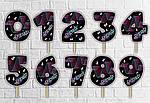 "Топпер-цифра (от 0 до 10см цифра) вырубка ""Тик Ток/Tik Tok"" (1шт)-"