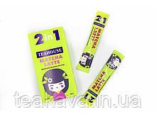 Чай Teahouse Матчу (Маття) латте в стіках 2-в-1, 10г*10шт (японський зелений чай)