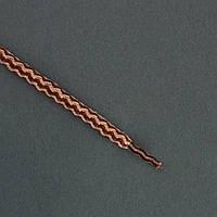 Шнурок Luxyart круглый 4,5 мм, 100 см, 144 шт (72 пары) коричневый 801 (PМ83-100.1)