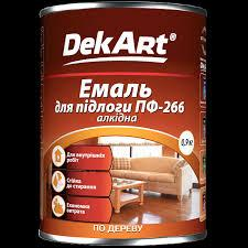 Емаль для підлоги пф-266 алкідна червоно-коричнева DekArt  2.8кг