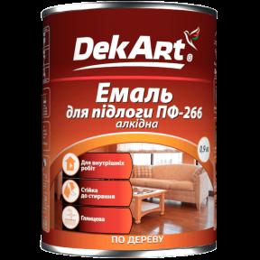 Емаль для підлоги пф-266 алкідна жовто-коричнева DekArt 0.9кг