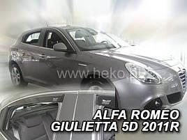 Дефлекторы окон (ветровики) Alfa Romeo  Giulietta 2011-> 5D 4шт (Heko)