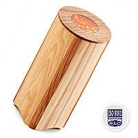 Деревянный Тубус Для Хранения Сыпучих Продуктов: Гороха Чечевицы, Бобовых PORSHEN Из Ясеня И Ореха 950 Мл