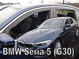 Дефлекторы окон (ветровики)  BMW 5 seria 2017 -> (G30) 4шт (Heko)