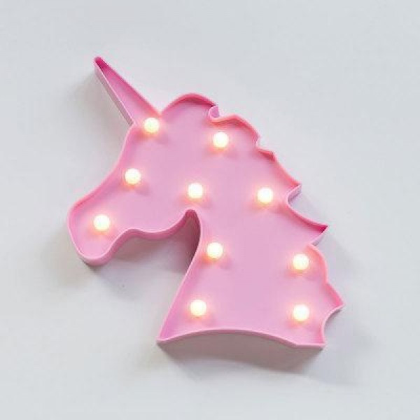 Ночник светильник детский единорог Mavens, розовый