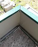 Оцинкованная грядка Mavens, 120х120х38 см., бордюр для грядок, высокая грядка, клумба, ограждение, фото 2