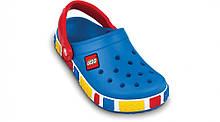 Детские кроксы Crocs Crocband LEGO голубые (J) разм.