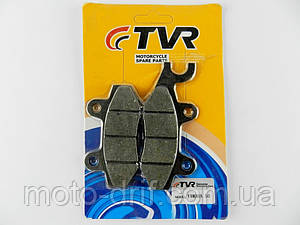Колодки дискового тормоза GY6 50-150cc с крючком влево (ZH-125) TVR