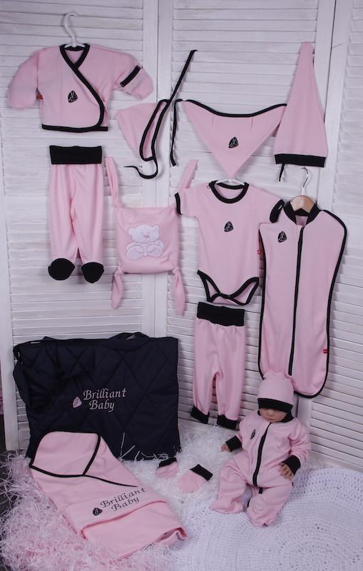 Летний набор одежды для новорожденной девочки Baby Bag розовый