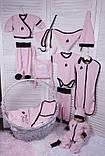 Летний набор одежды для новорожденной девочки Baby Bag розовый, фото 2