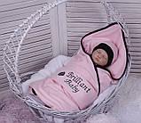 Летний набор одежды для новорожденной девочки Baby Bag розовый, фото 3
