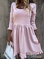 Женское стильное расклешенное платье Батал, фото 1