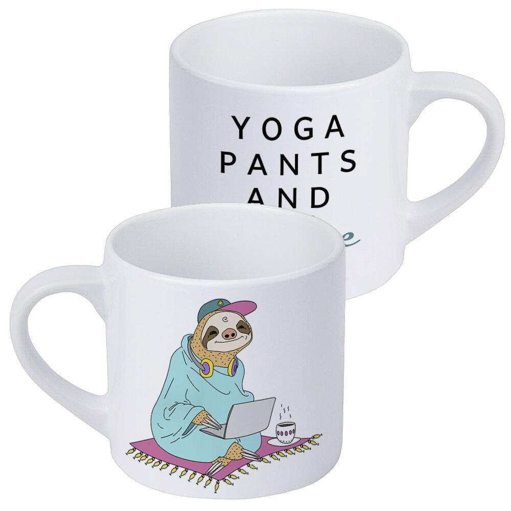Кружка маленькая Yoga pants and coffee 170 мл (KRD_20M018)