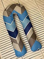 U-образная подушка подкова обнимашка для беременных Esen Цветные ЗигзагиXXL 125x60 см (107 053 XXL)