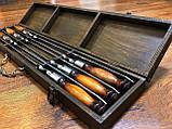 """Набор шампуров в кейсе Mavens """"Люкс"""" с деревянной ручкой, 6 шт (02-0050), фото 2"""