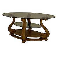 Журнальний стіл МС-1 Мілан з поличкою Антонік 1300x600x580 мм горіх тонований