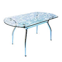 Кухонний стіл Кристал  1200x700x750 мм прозорий піскоструй