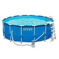 Бассейн семейный круглый каркасный Intex 28242