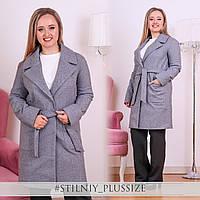 Пальто кашемировое с поясом на подкладке