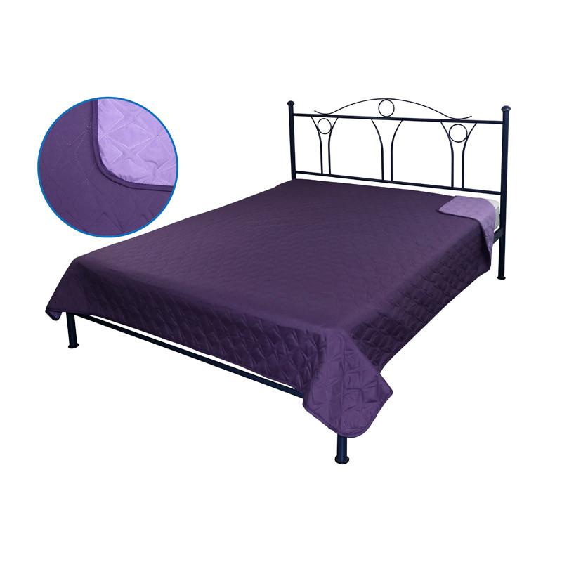 Покрывало на кровать, диван Руно Фиолетовое 150х212 двустороннее полуторное
