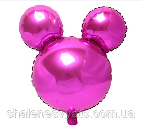 Фольгированный шар Микки малиновый.Размер 63*69 см.