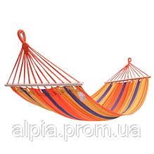 Гамак KingCamp Canvas Нammock, оранжевый, 2х1 м