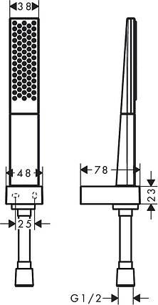 Душова система Hansgrohe Rainfinity 100 1jet Porter 1.25м, 26857000, фото 2