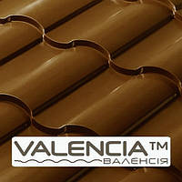 Металлочерепица VALENCIA 0,45 мм, PE RAL 8017  Сталь - Optima Steel