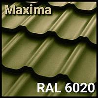 Металлочерепица - MAXIMA PEMA RAL 6020 Италия Marchegalia 350/30 0,45 мм завод Сталекс