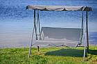 Садова гойдалка 3-х місна Relax з дашком для саду, дачі, фото 2