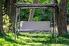 Садова гойдалка 3-х місна Relax з дашком для саду, дачі, фото 4