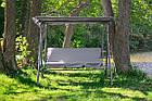 Садова гойдалка 3-х місна Relax з дашком для саду, дачі, фото 6